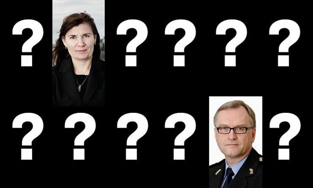 To politidistrikter blir som i dag. I Østfinnmark sitter Ellen Katrine Hætta. I Oslo Hans Sverre Sjøvold. Hvem blir de andre ti?