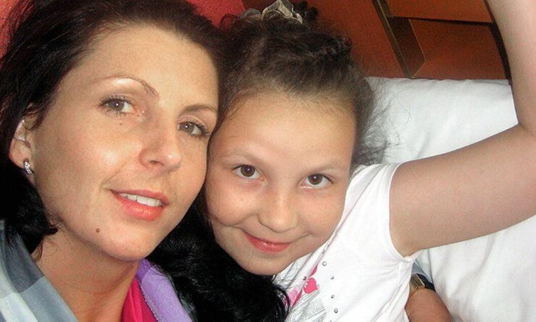 Kristina Sviglinskaja og datteren Monika, som døde i 2011.