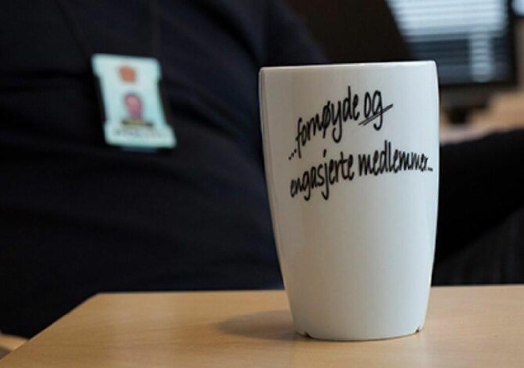Kaffekoppen til Bjørnestad uttrykker det han mener må være målet til PF.