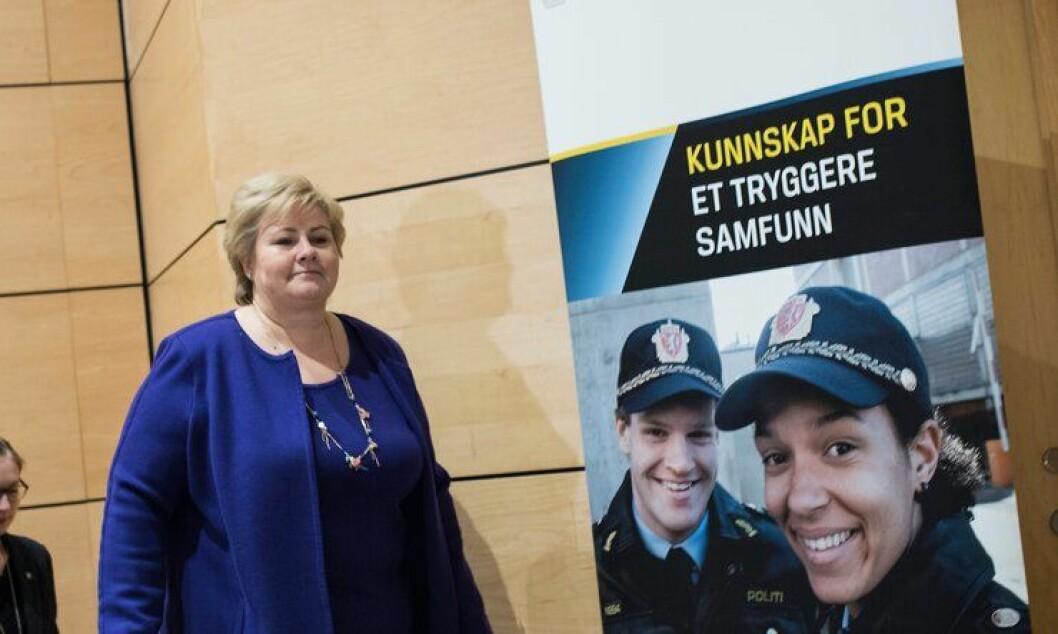 Erna Solberg mener trusselvurderingen til PST er negativt for Norges forhold til andre land.