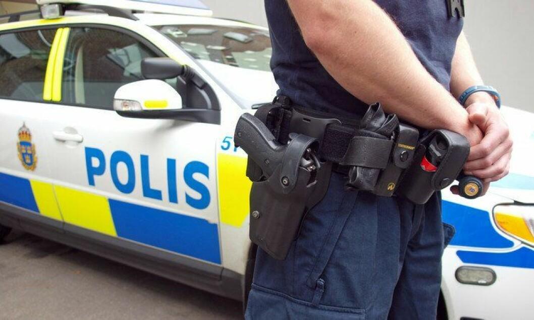 STÅLSATTE SEG: Svensk politi stoppet nazistene i Göteborg.