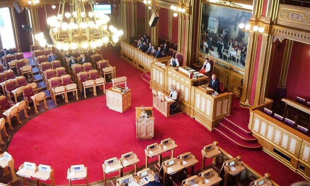 Justis- og beredskapsminister Anders Anundsen i Stortinget i dag.