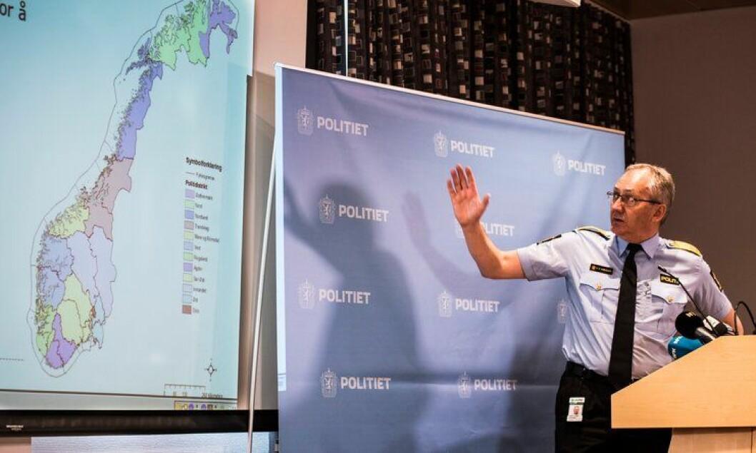 GJENNOMFØREREN: Politidirektør Odd Reidar Humlegård holdt pressekonferanse dagen etter at Stortinget vedtok politireformen. Nå skal han og direktoratet hans gjennomføre store endringer i politiet.