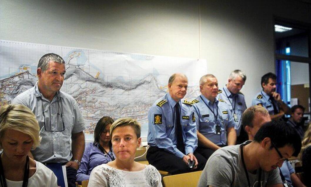 Folksomt: På møtene på politihuset i Ålesund var alle velkomne under Aksla-saken, også de som ikke jobbet direkte med sakene. Slik får hele distriktet eierskap til sakene.