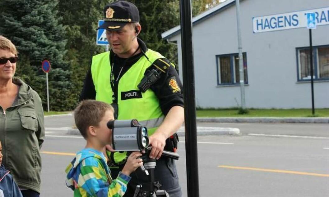 Lasermåling i Hedmark under fjorårets Politiets dag.