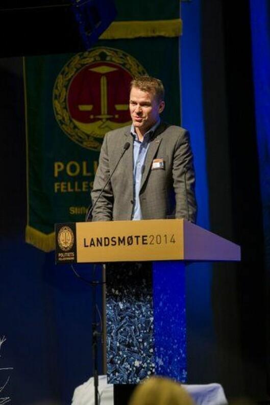 Sigve Bolstad under PFs landsmøte i 2014.