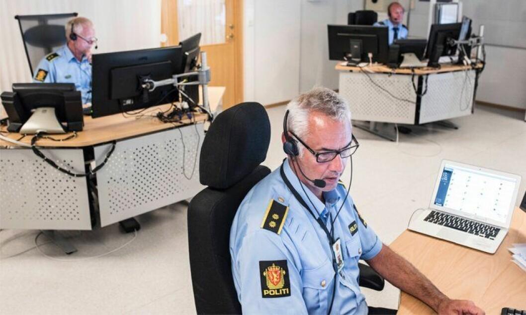 Aller helst skulle de hatt et nytt politibygg med operasjonssentral nærmere motorveien. Men Knut Henning Bjune (fra venstre), Johannes Nysæther og Tommy Bjerkholt Eriksen håper i alle fall på en bedre arbeidshverdag med flere kollegaer å spille på etter reformen - helst da i Tønsberg.