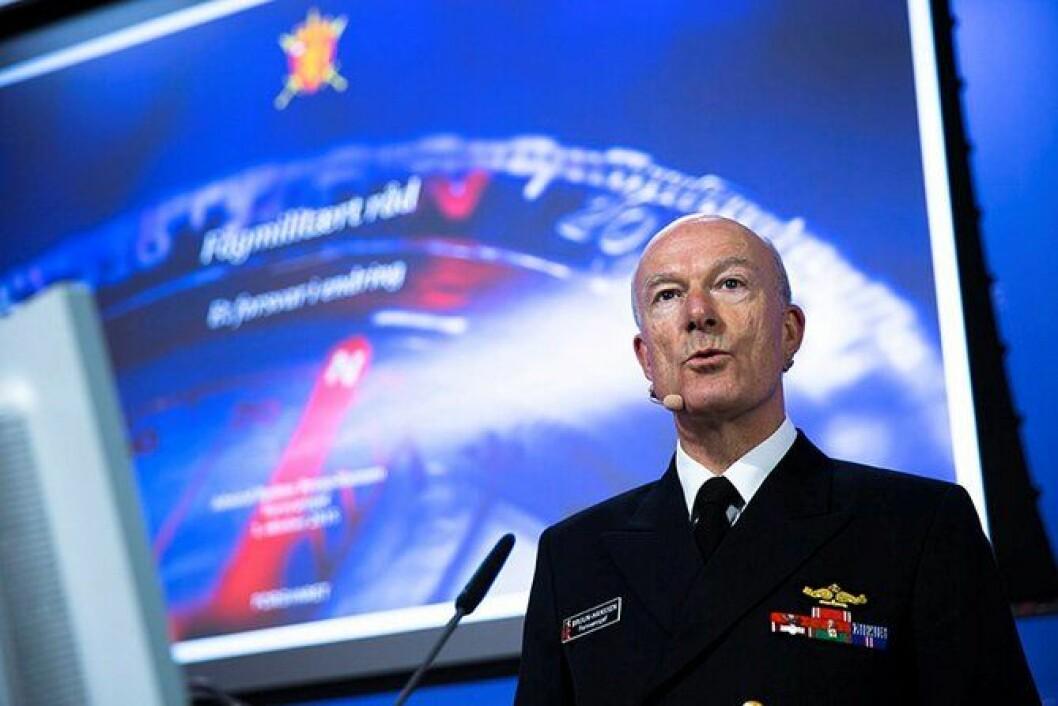 Forsvarssjef Haakon Bruun-Hansen la fram sitt fagmilitære råd 1. oktober. Han mener Forsvaret trenger 180 milliarder kroner i årene som kommer.