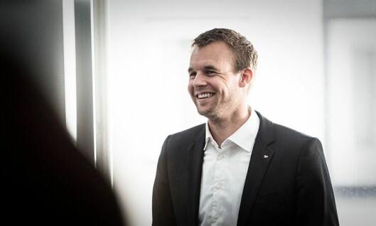 FORNØYD: Kjell Ingolf Ropstad la i dag fram KrFs alternative budsjett. Nå blir det forhandlinger.