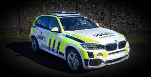 Slik ser den nye BMW X5 ut i norsk uniform. Politioverbetjent Morten Østraat har bistått PFT med tilpassing av uniformering og dekor. Foto: Ferno Norden
