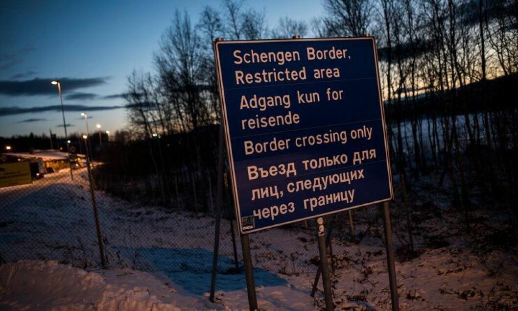Grenseovergangen ved Storskog i Finnmark.