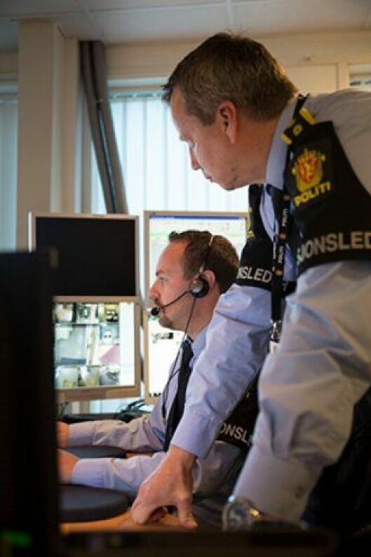 Operasjonslederne Gunnar Bjanes og Arve Ruud på Romerike.