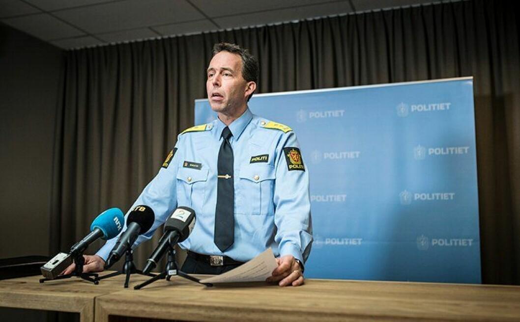 Beredskapsdirektør Kaare Songstad under pressekonferanse 13. nvember.