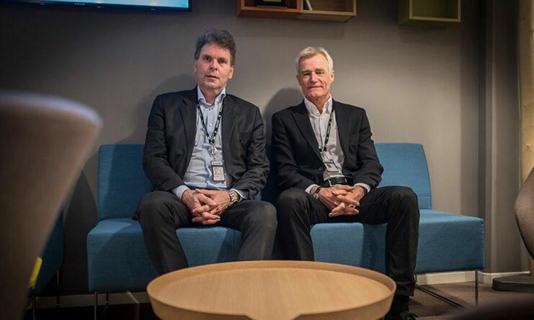 Sigurd Ringheim, anskaffelsesdirektør i PFT, og PFT-direktør Helge Clem, mener det er på høy tid å samle anskaffelsene.