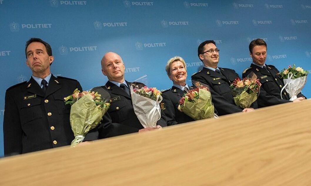 Kaare Songstad, Hans Vik, Kirsten Lindeberg, Ole B. Sæverud og Steven Hasseldal – alle er klare som politimestre fra 2016.