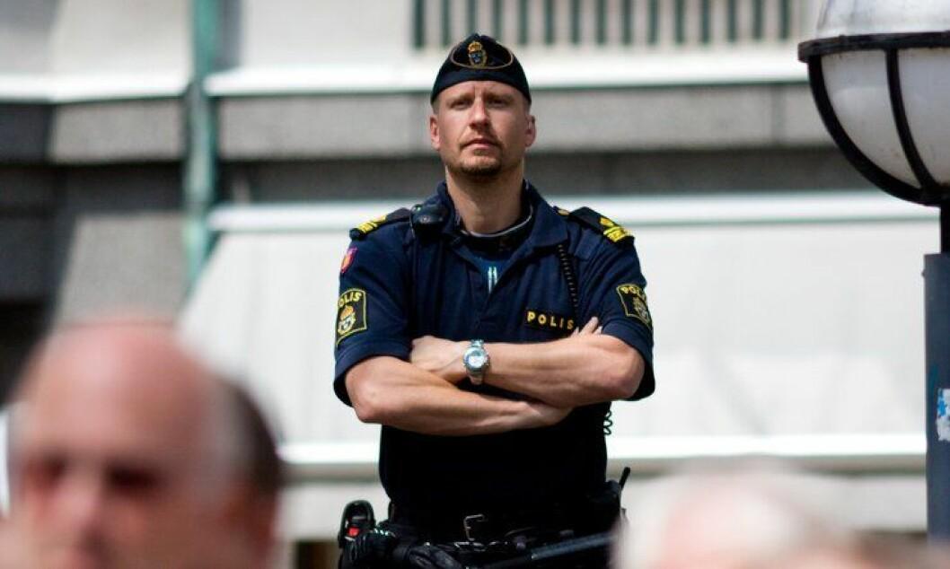 I Sverige har hele landet blitt bestemt som arbeidsplass for politifolk. Det gjør at flere må flytte etter omorganisering. Illustrasjonsbilde,