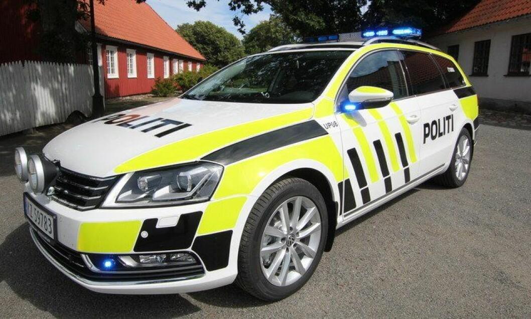 Politibil tilhørende Utrykningspolitiet.