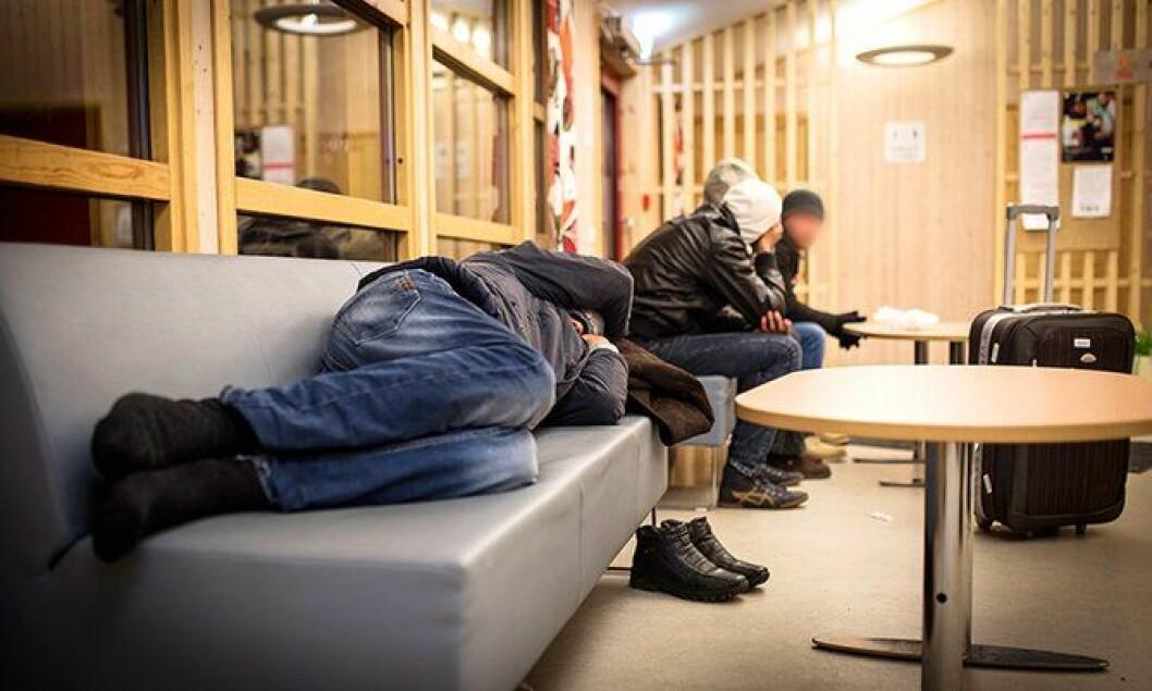 Asylsøkere på Storskog i Finnmark.