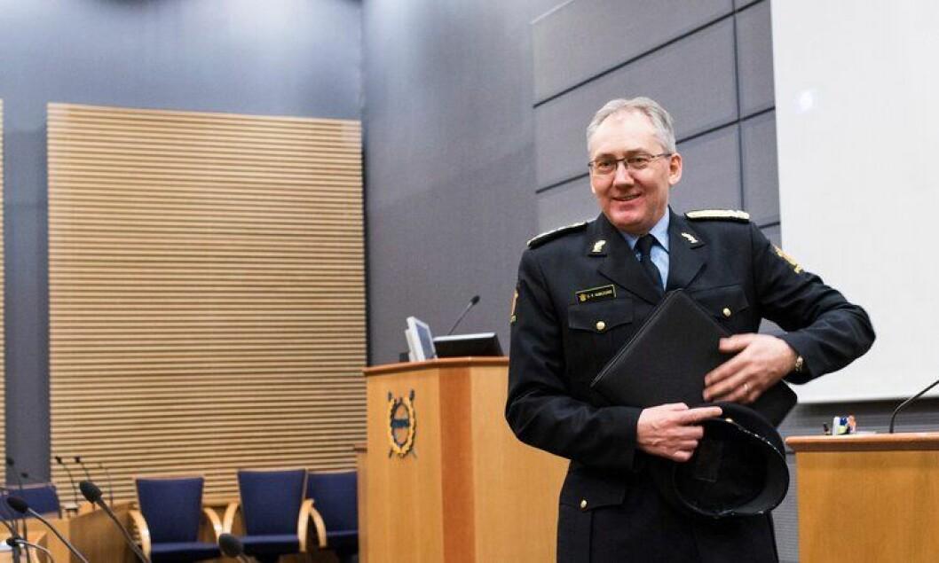 Det er ingen grunn til å stresse, forteller politidirektør Odd Reidar Humlegård. Selv vil han og POD bruke lang tid på å endre politiet.