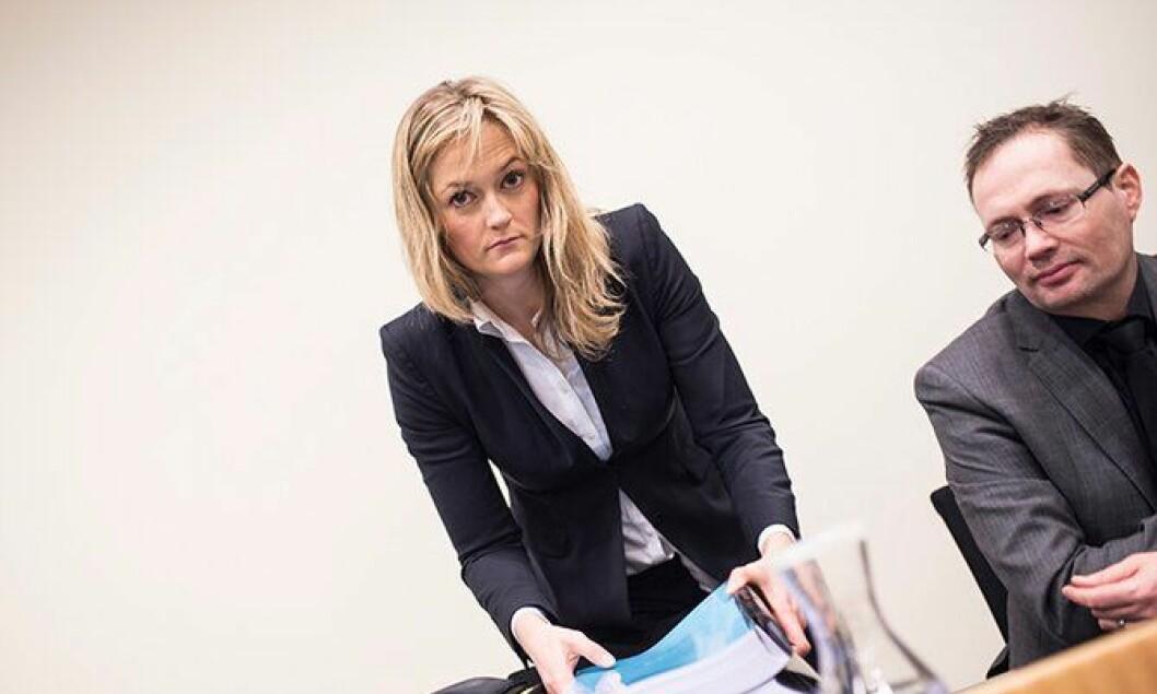 Adele Matheson Mestad fra Regjeringsadvokaten og Daniel Billaud fra Politidirektoratet.