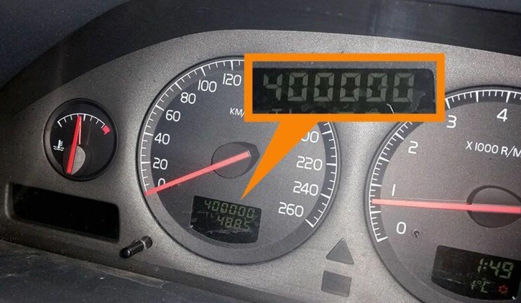 Foreviget: Det runde tallet ble fanget på kamera. Klarer bilen 100.000 til?
