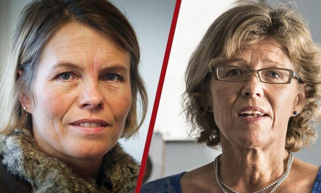 Marit Fostervold (til venstre) søkte jobb som beredskapsdirektør i Politidirektoratet, men trakk seg etter en telefonsamtale fra HR-direktør Karin Aslaksen.