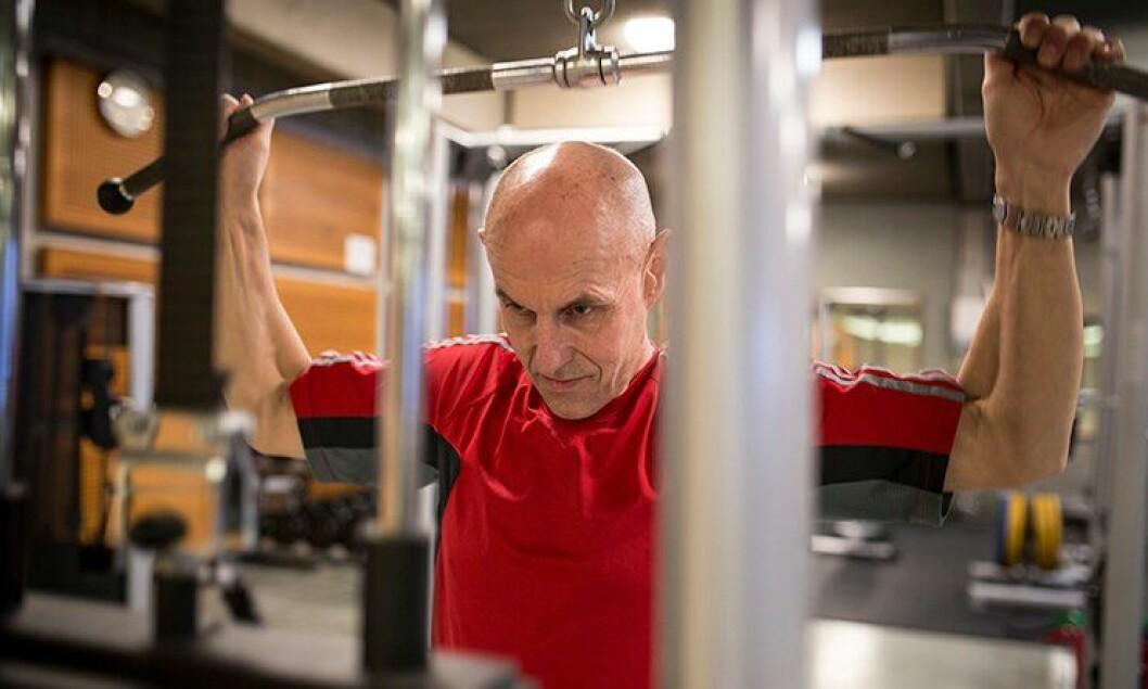 Den tidligere gymlæreren Gunnar Klem ved Politihøgskolen har alltid trent mye. Fortsatt legger han ned flere økter i uka.