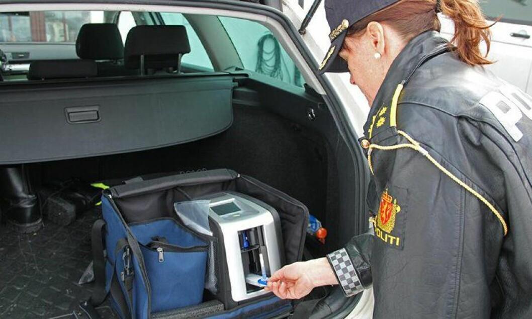 UP ser en kraftig økning i antall bilister tatt i rus på veien etter innføringen av Dräger DrugTest 5000.