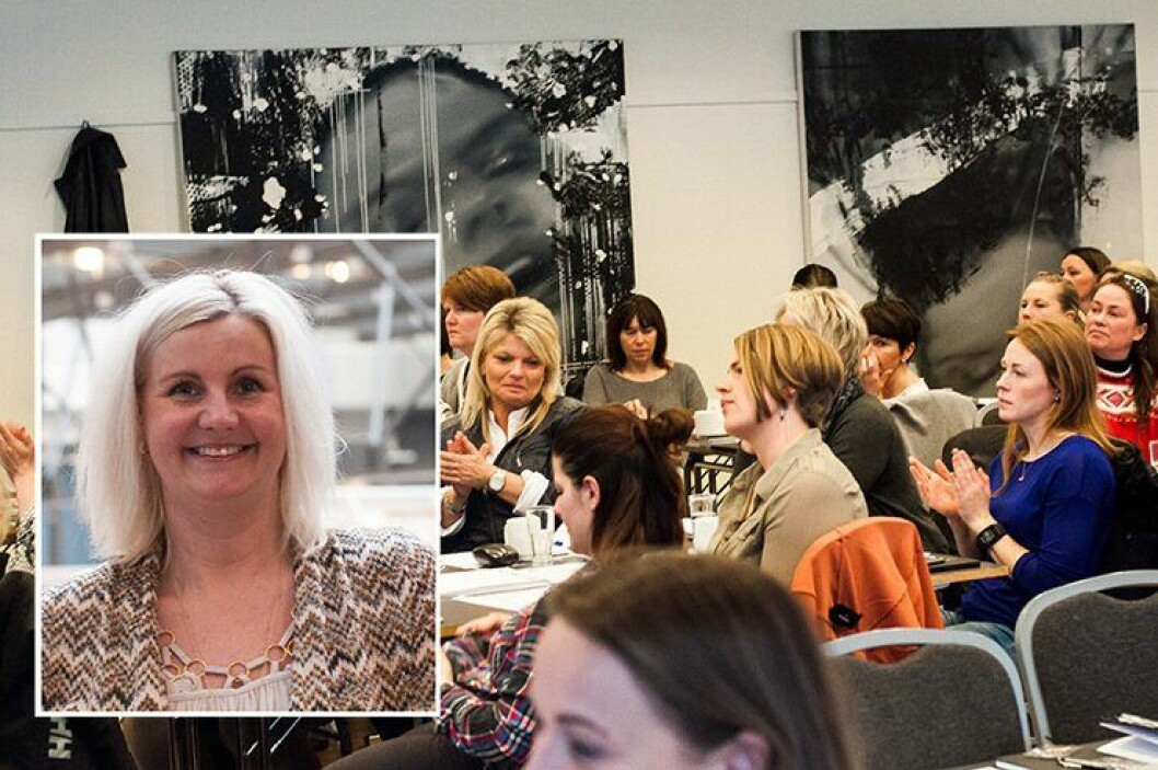 Kvinnelige tillitsvalgte fra hele landet er denne uken i Oslo for å delta på PFs samling. Forbundssekretær Liv Ova Graham (innfelt) forteller om stor pågang.