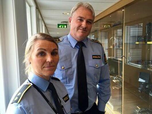Eivind Borge, leder for taktisk etterforskingsavdeling og Ann Kristin Grosberghaugen, leder av voldtektsseksjonen i Kripos.