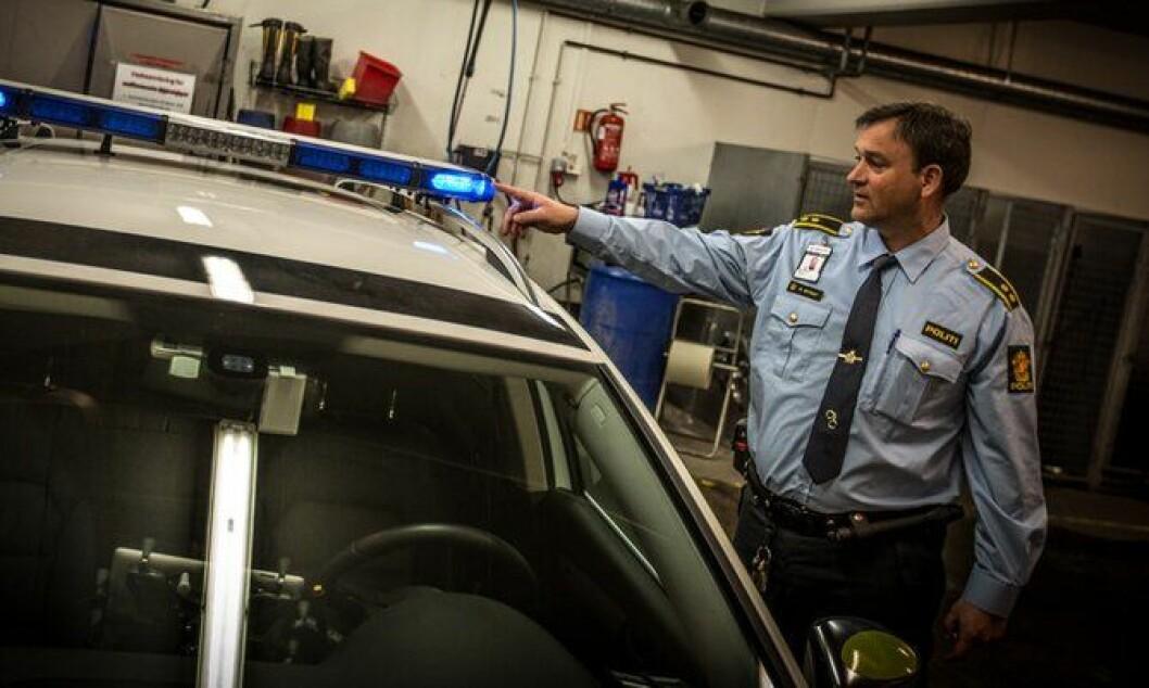 Politioverbetjent Morten Østraat ved Manglerud politistasjon.