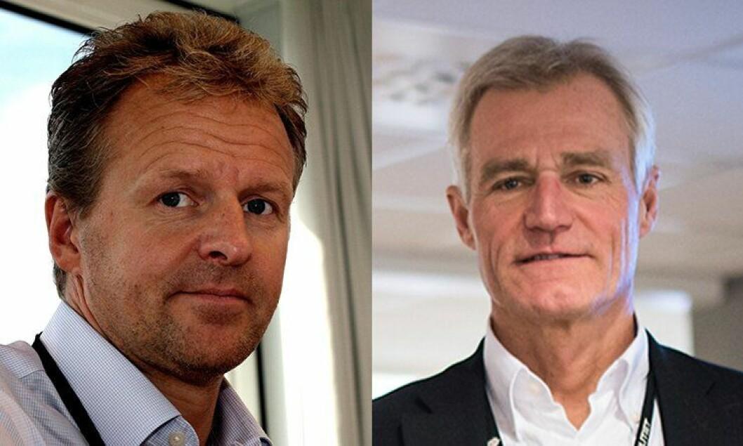 Direktør i Politiets IKT-tjenester, Erik Hasle, og PFT-direktør Helge Clem.