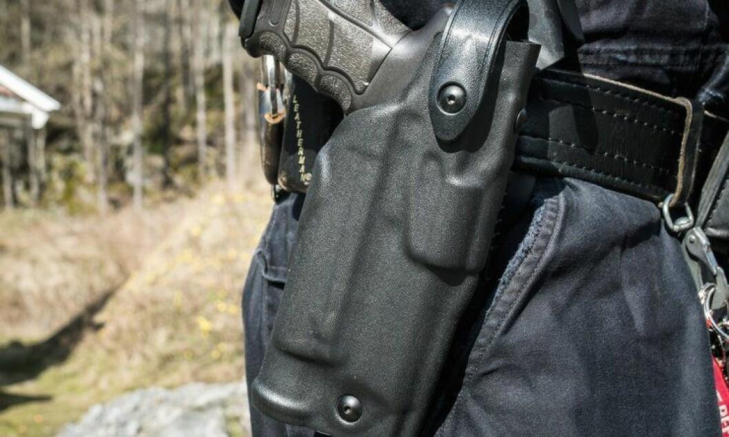 En ny utgave av Safarilands hylster er utviklet. Her på en norsk politihofte.