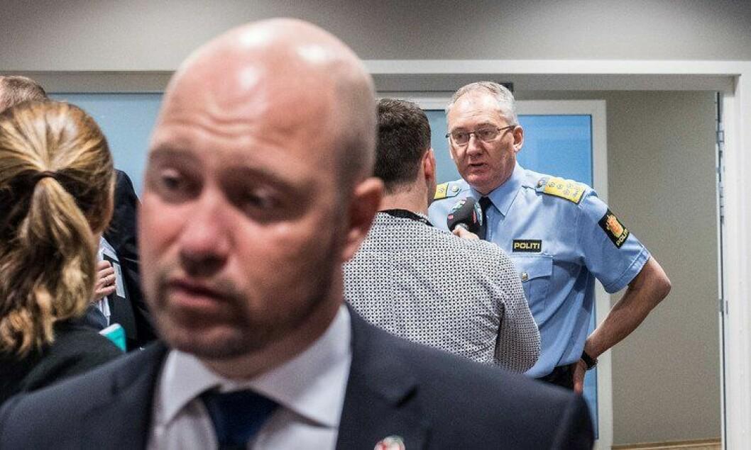 Odd Reidar Humlegård og Anders Anundsen presenterte politiberedskapen per juni 2016 i dag.