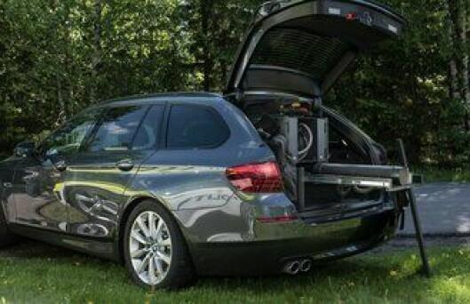 En prototyp av en ny BMW ble vist fram i mai, med rigg til politiutstyr.