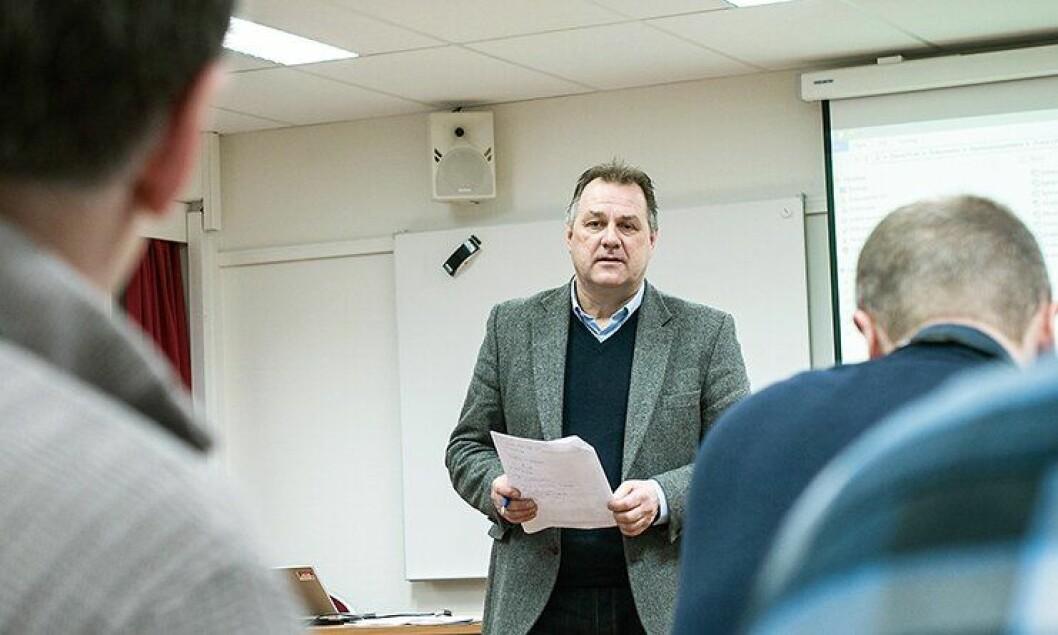Kåre Svang under en trening for Kripos-etterforskere tidligere i år.