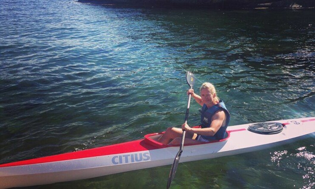 Camilla Ek Sørensen nyter feriedager på sjøen. Hun ser fram til en spennende høst, for hele etaten.