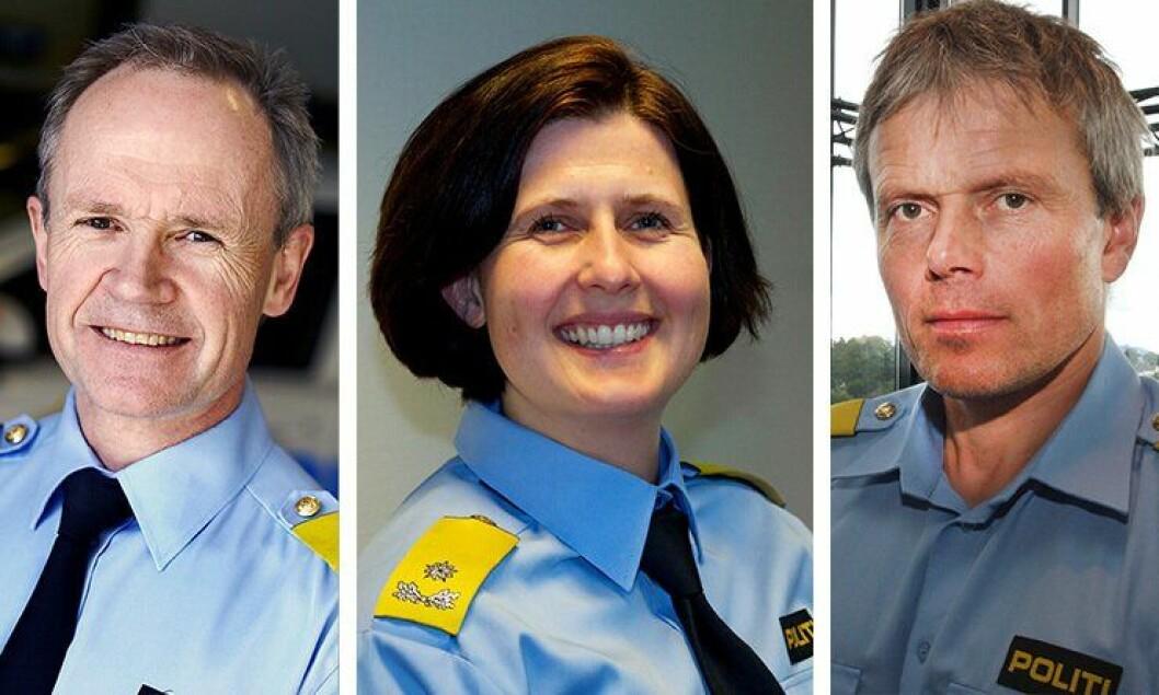 Arne Jørgen Olafsen, Rita Kilvær og Arne Hammersmark er alle tidligere politimestere og har søkt jobb som visepolitimestere nå.