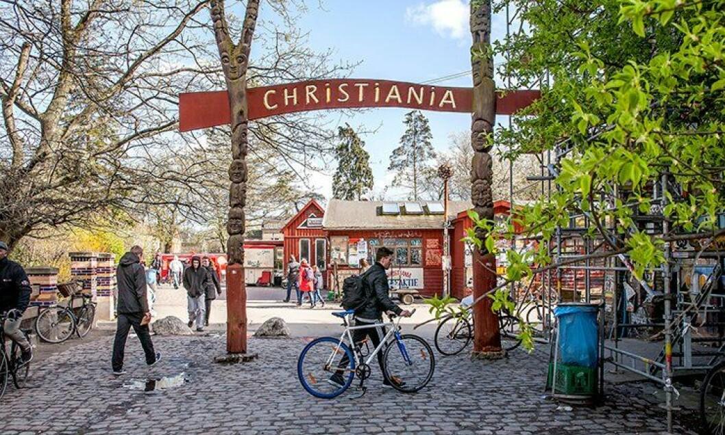 I bydelen Christiania i København ble to politimenn skutt onsdag forrige uke.