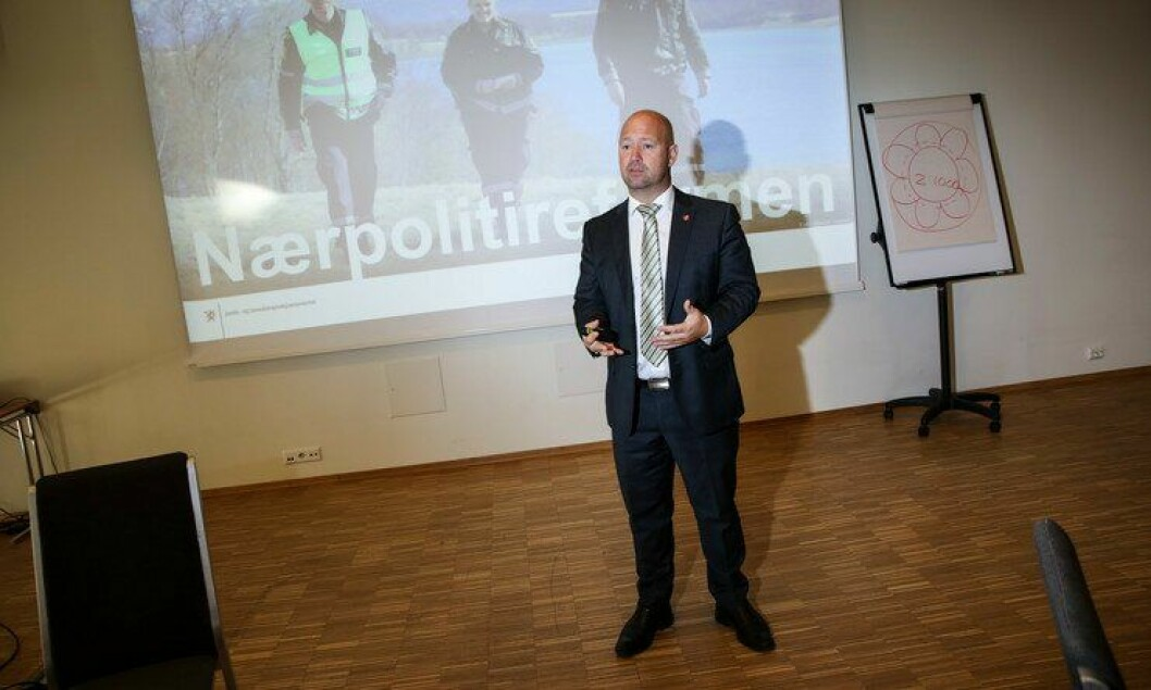 Justis- og beredskapsminister Anders Anundsen snakket til PFs lokallagsledersamling tidligere i dag.