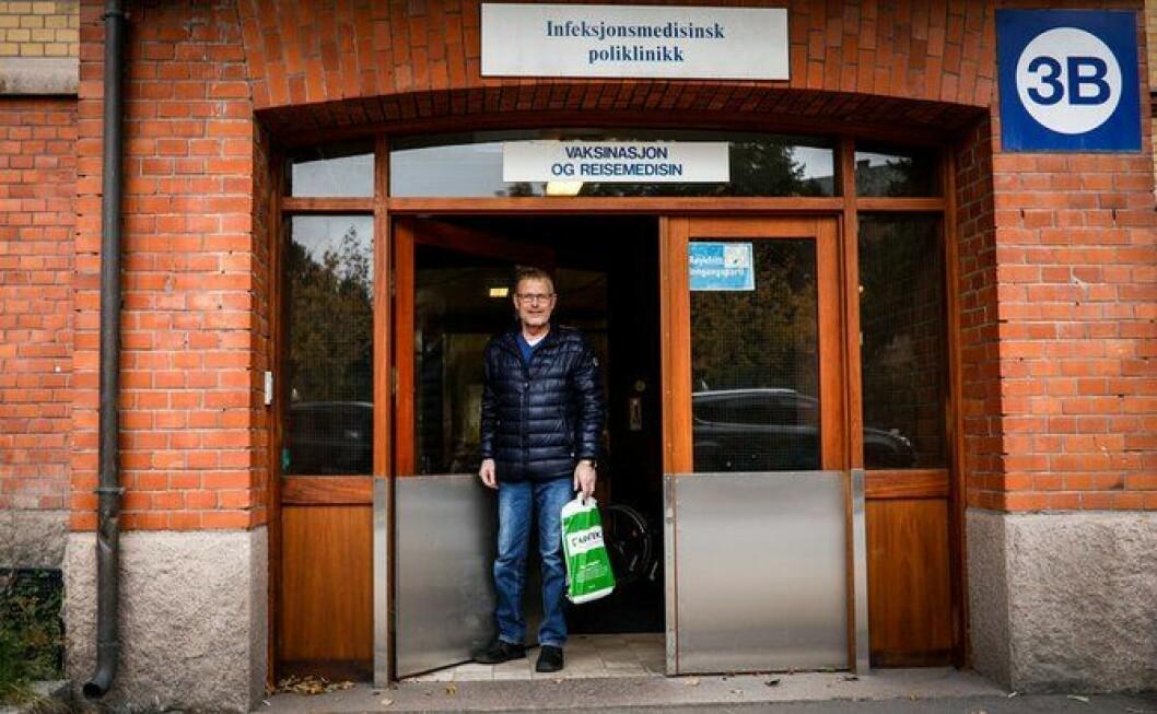 Jevnlig må Knut Lauvrak besøke Oslo universitetssykehus for å få vurdert tilstanden på lungene. Foto: Torkjell Trædal