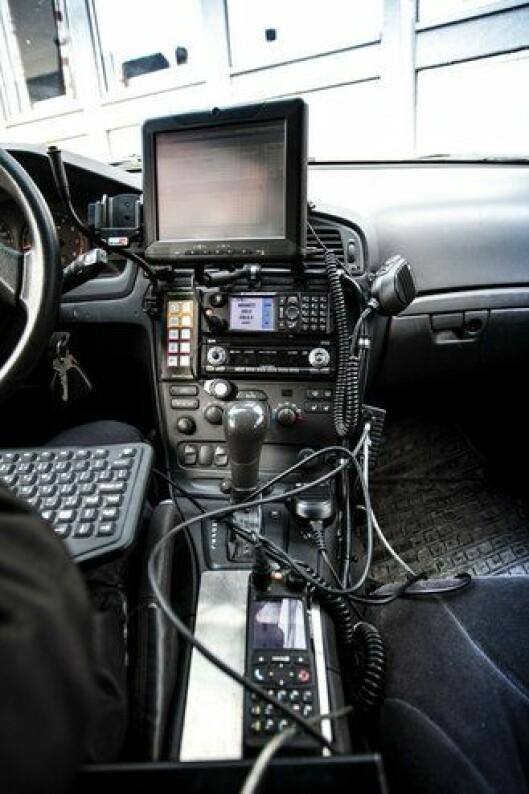 Et eksempel på tidligere politibiler med IKT-utstyr.