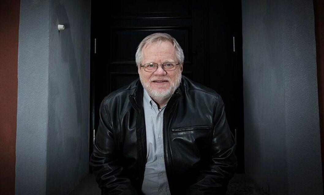 Jørgen Hellwege takker for seg i fagforeninga.