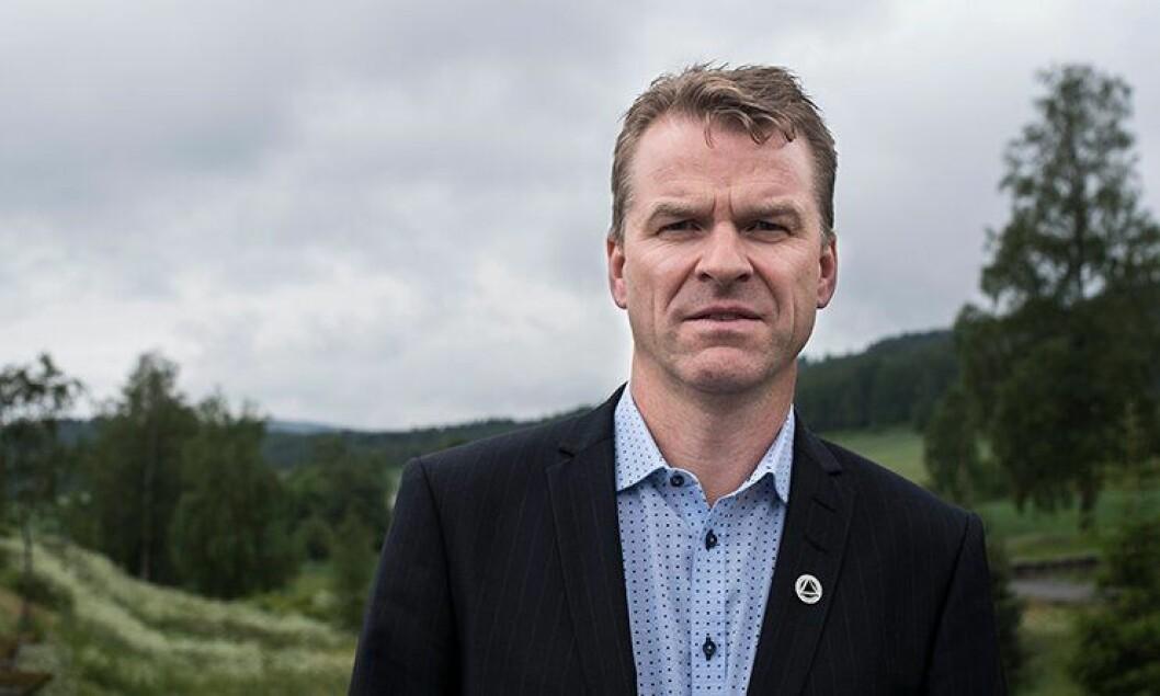 FRAMOVER: Forbundsleder Sigve Bolstad tar et blikk på det nye politiåret.