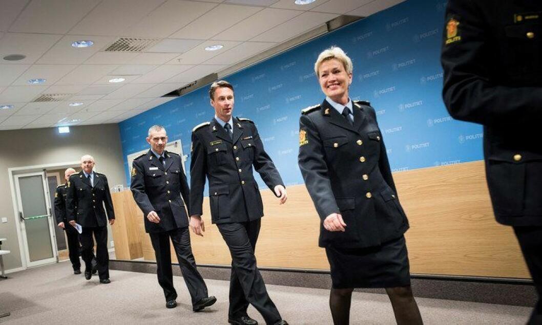 Trives blant menn: Kirsten Lindeberg, politimester i Agder politidistrikt, har ansatt kun menn i de nye lederstillingene.