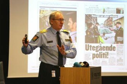 Odd Reidar Humlegård la frem sin endelige beslutning på en pressekonferanse. Foto: Kåre M. Hansen