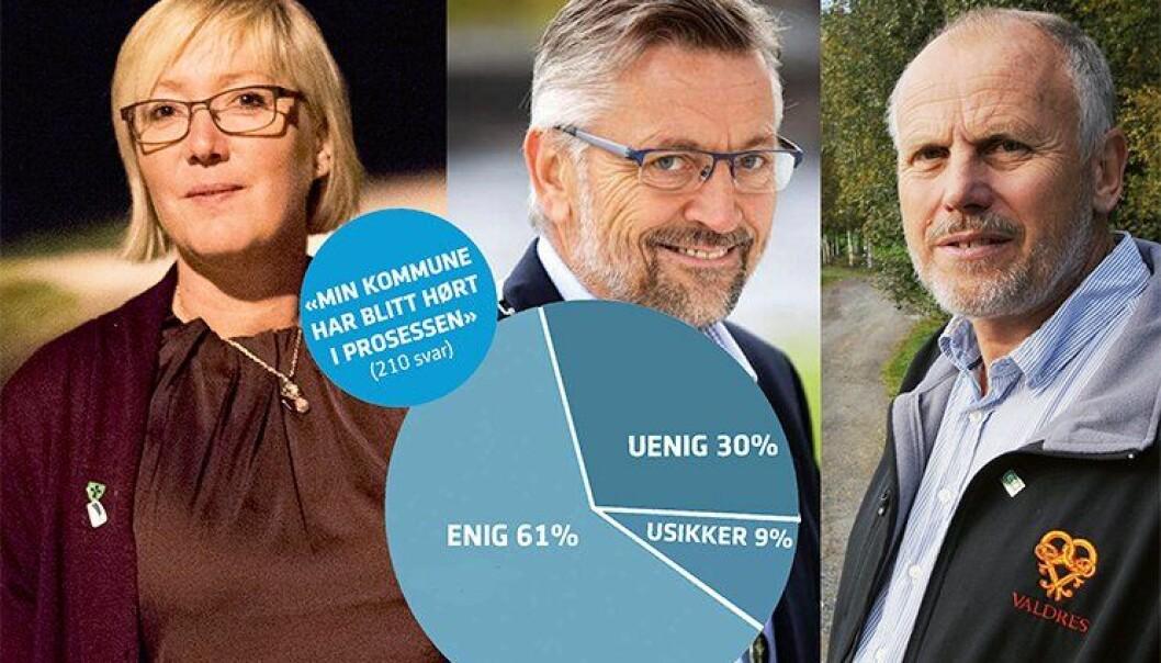 Frida Melvær i Askøy, Sjur Strand på Kongsvinger og Eivind Brenna i Vestre Slidre er tre av ordførerne som har svart på Politiforums spørreundersøkelse. De mener blant annet at prosessen fram mot ny tjenestestedsstruktur har vært åpen og transparent.