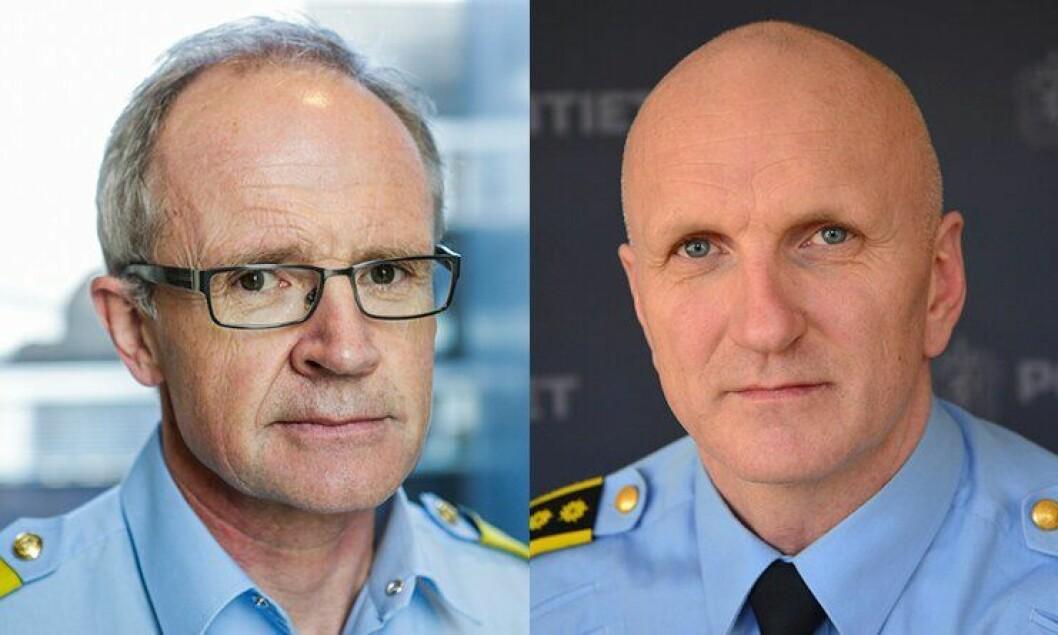 Visepolitimester Arne Jørgen Olafsen og politiinspektør Kenneth Berg var to av medlemmene i bevæpningsutvalget.