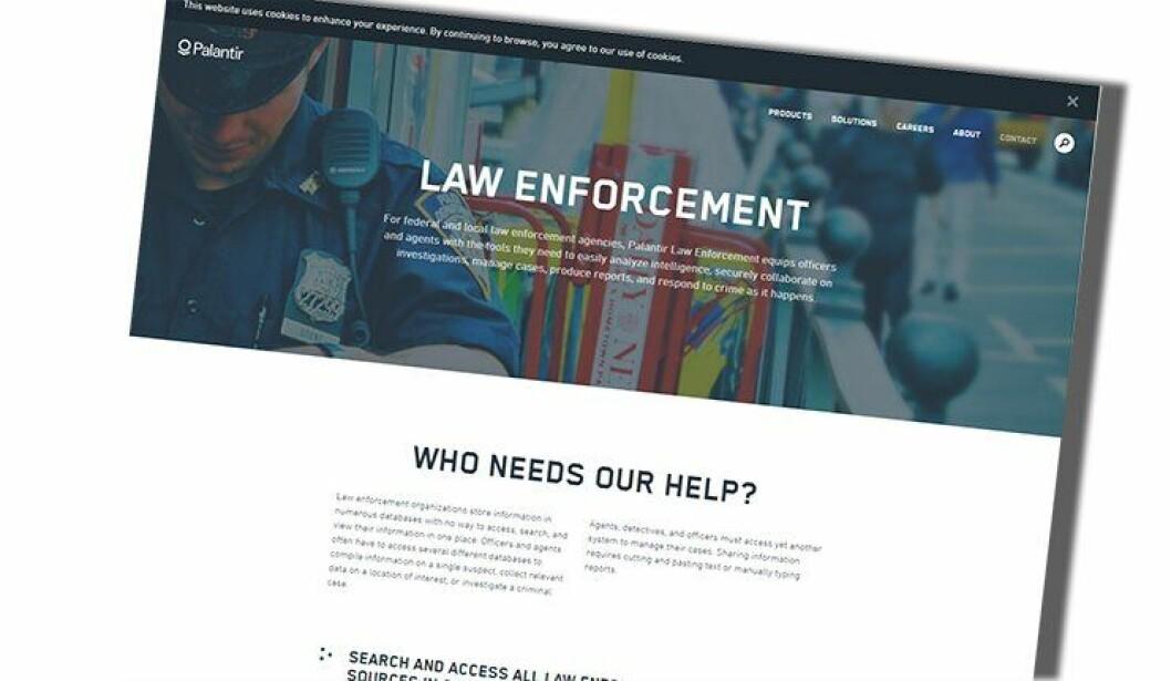 Selskapet Palantir leverer dataanalysetjenester til politi og forsvar i flere land. Nå også i norsk politi.