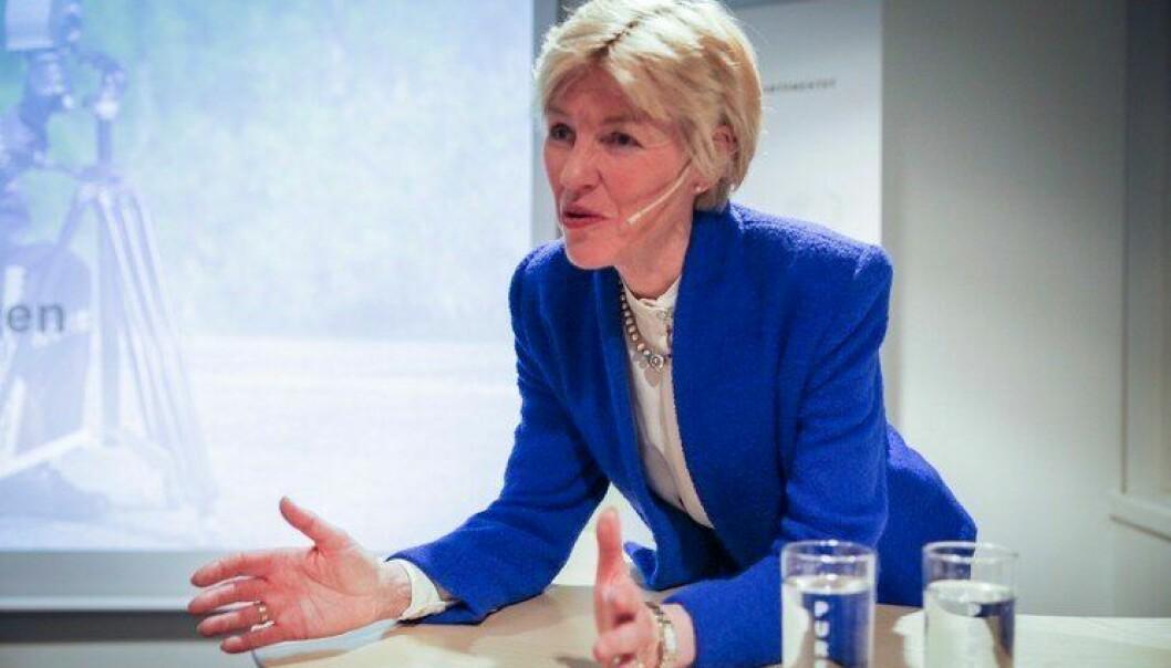 Anne Cathrine Frøstrup under offentliggjøringa av Særorganutvalgets utredning.